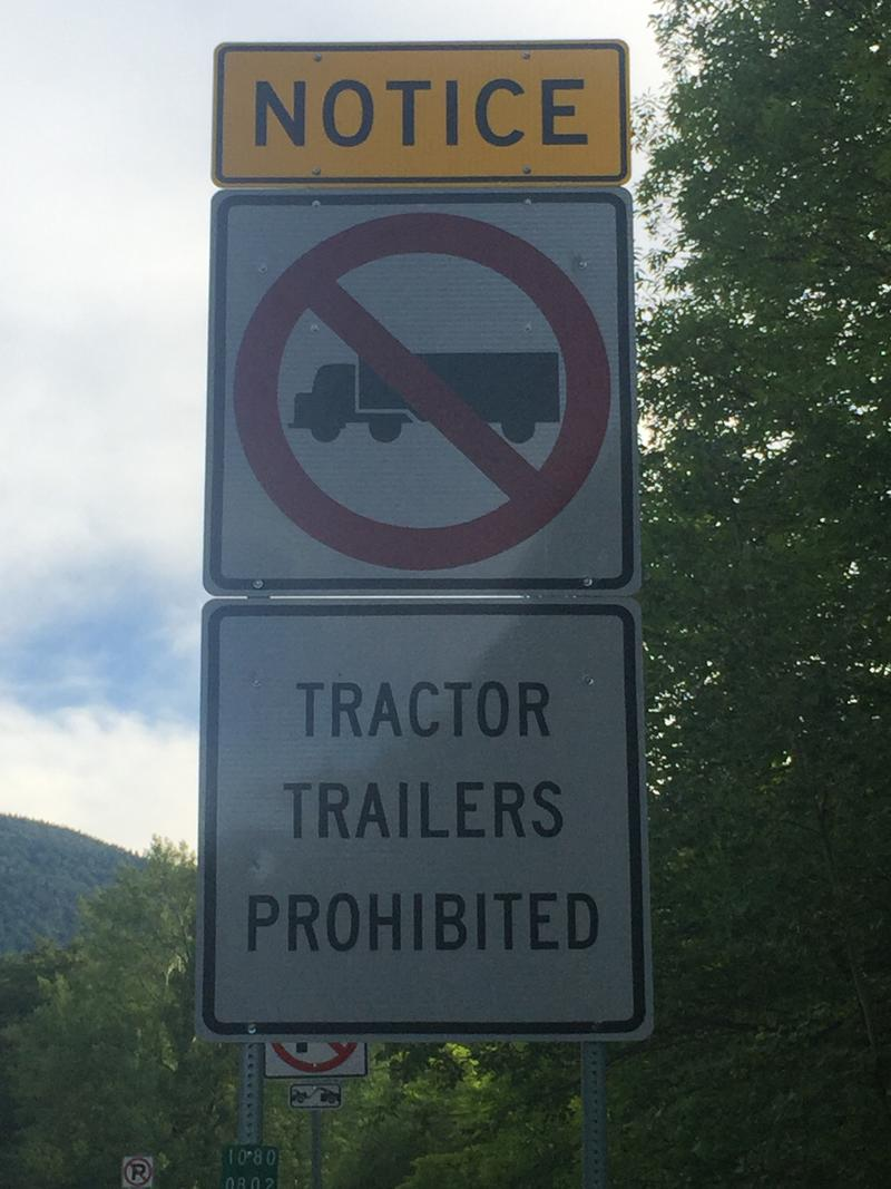 Sign on Notch road