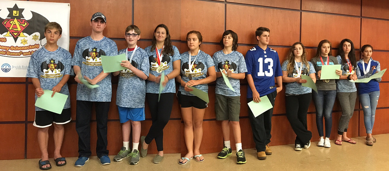 Teen athletes assemble at the Albany Jewish Community Center, September 2016.