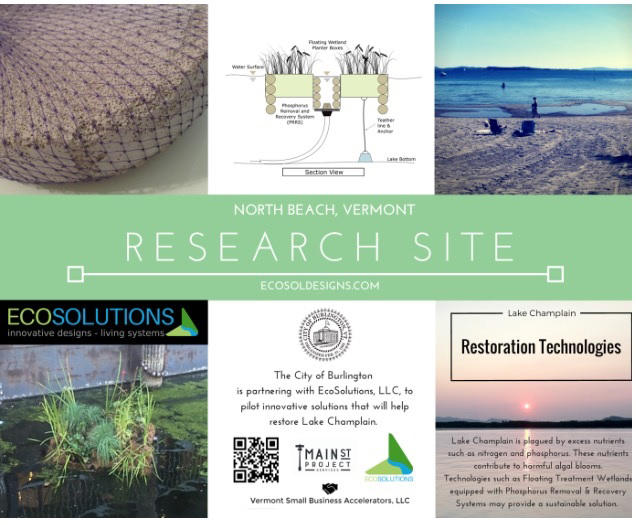 Algae research sign