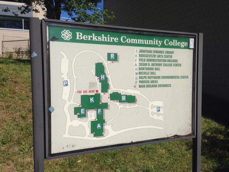 A map of Berkshire Community College's main campus in Pittsfield.