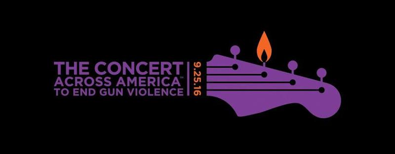 The logo for the 2016 Concert Across America To End Gun Violence
