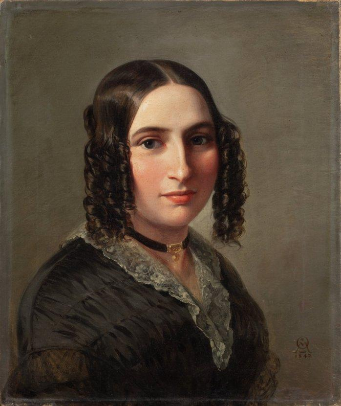 Portrait of Fanny Mendelssohn Hensel, 1842