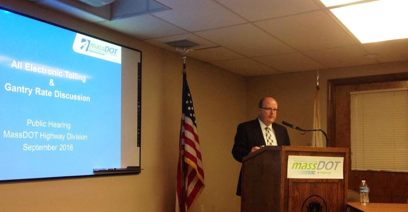 MassDOT Highway Administrator Tom Tinlin speaking in Lenox Sept. 15.