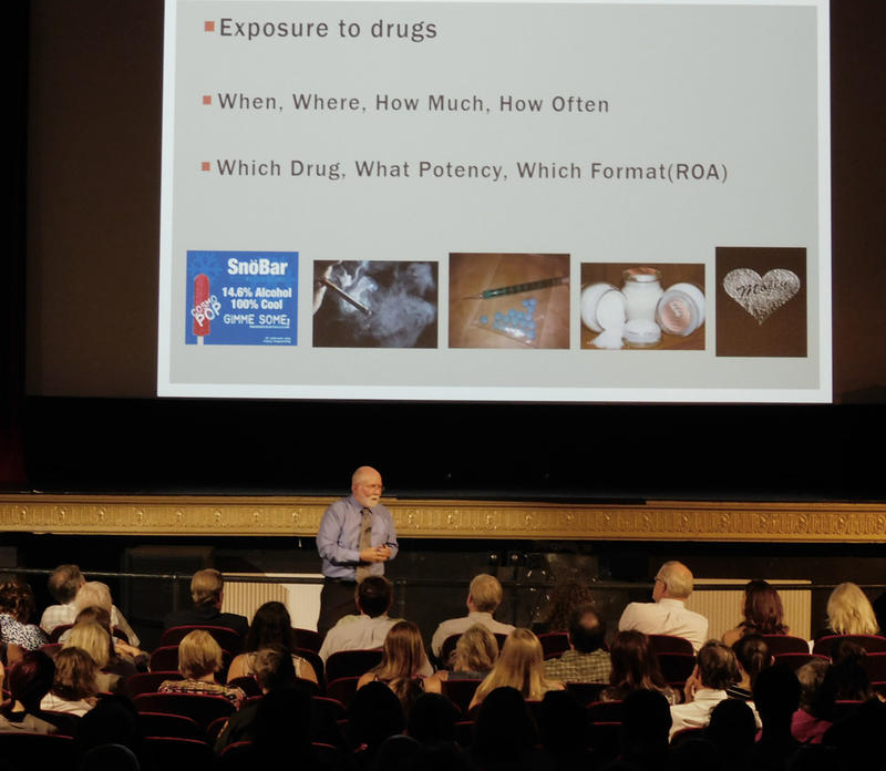 Michael Nerney discusses addiction at Strand Theatre