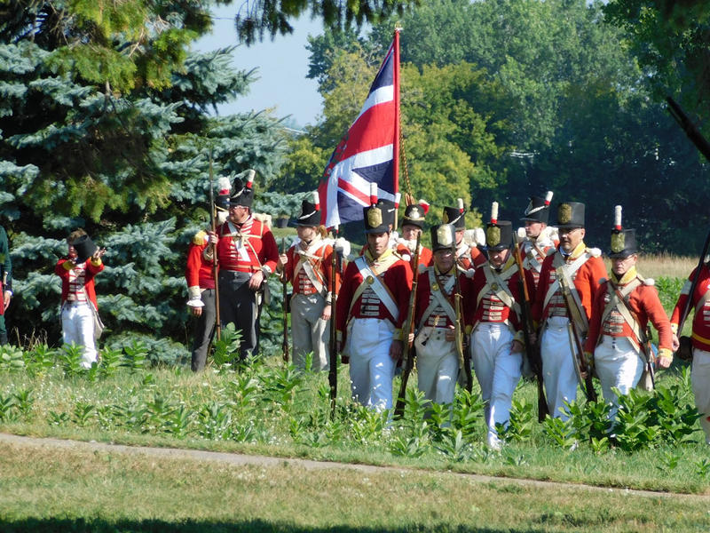 Reenactment of Culver  Hill and artillery assault on Halsey's Corners during Battle of Plattsburgh commemoration