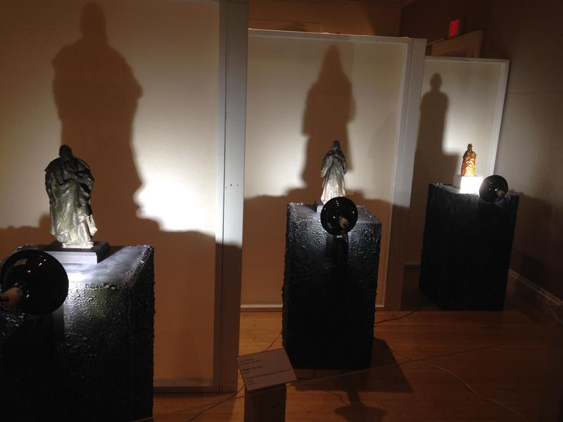 The exhibition explores people's fear of shadows.