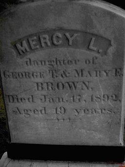 Mercy Brown's gravestone