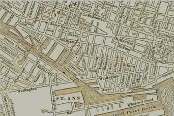 A map of Griffintown, circa 1912