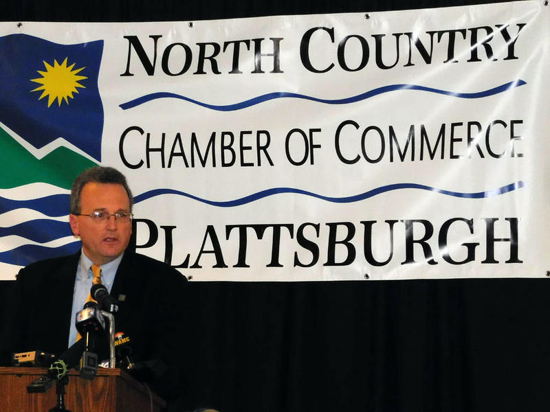 Norsk Titanium CEO Warren Boley speaks at Chamber luncheon