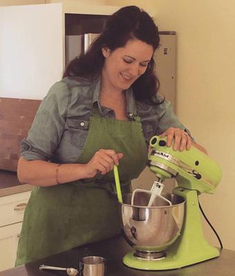 Deanna Fox, in the kitchen