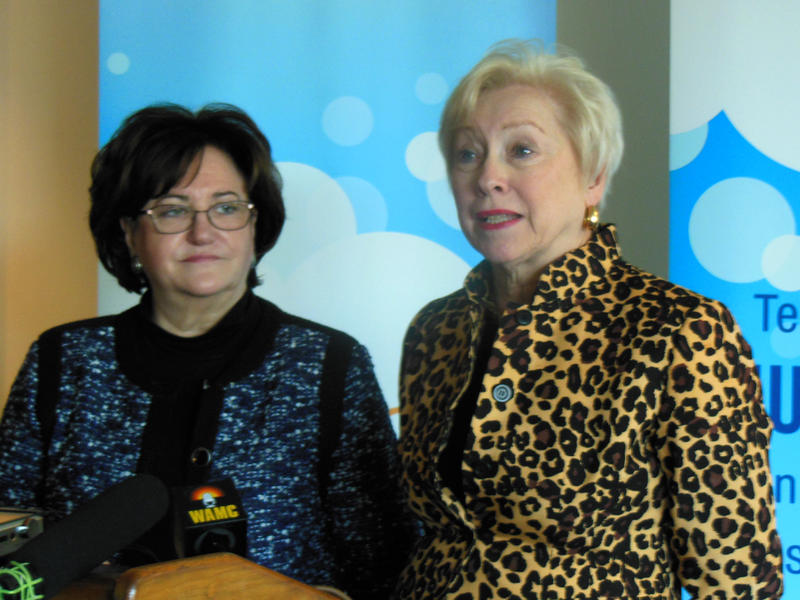 State Education Commissioner MaryEllen Elia (left) with SUNY Chancellor Nancy Zimpher