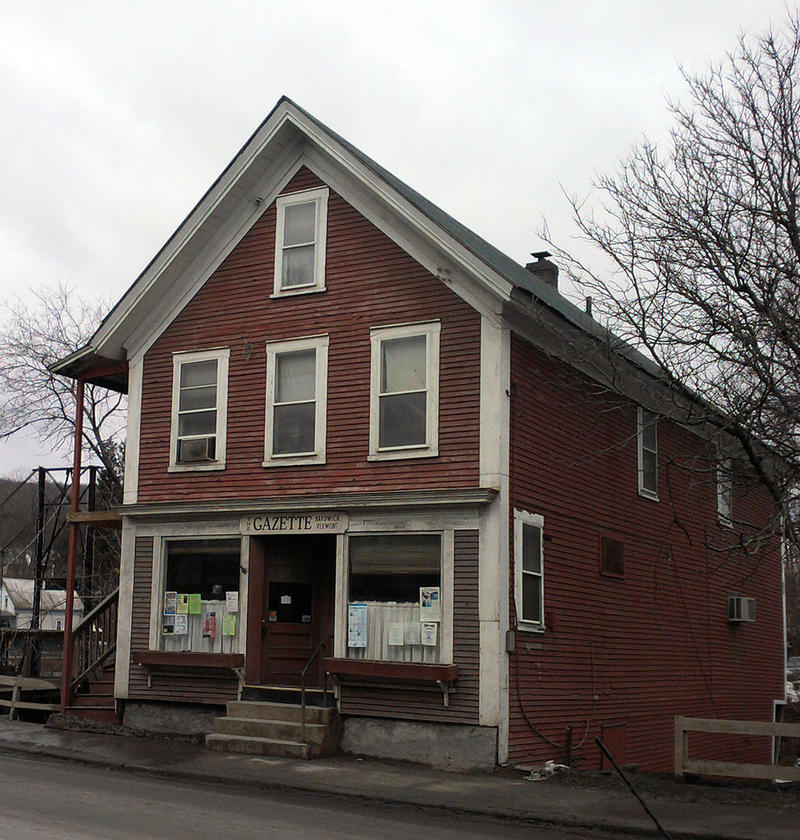 The Hardwick Gazette building in Hardwick, Vermont