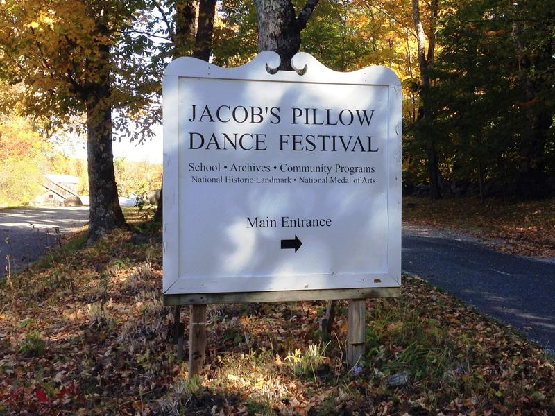 The entrance sign at Jacob's Pillow Dance Festival in Becket, Massachusetts