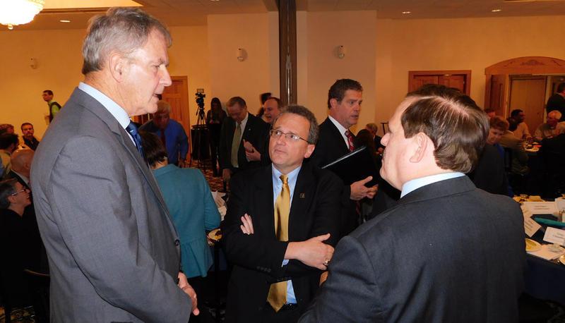 Former Congressman Bill Owens (left), Warren Boley (center) and Garry Douglas (right)