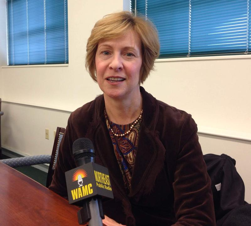 Massachusetts Auditor Suzanne Bump speaks with WAMC in 2014.