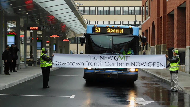 Transit Center Open banner