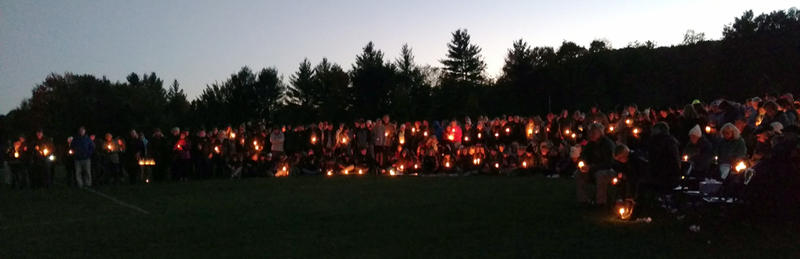 Harwood Union High School vigil