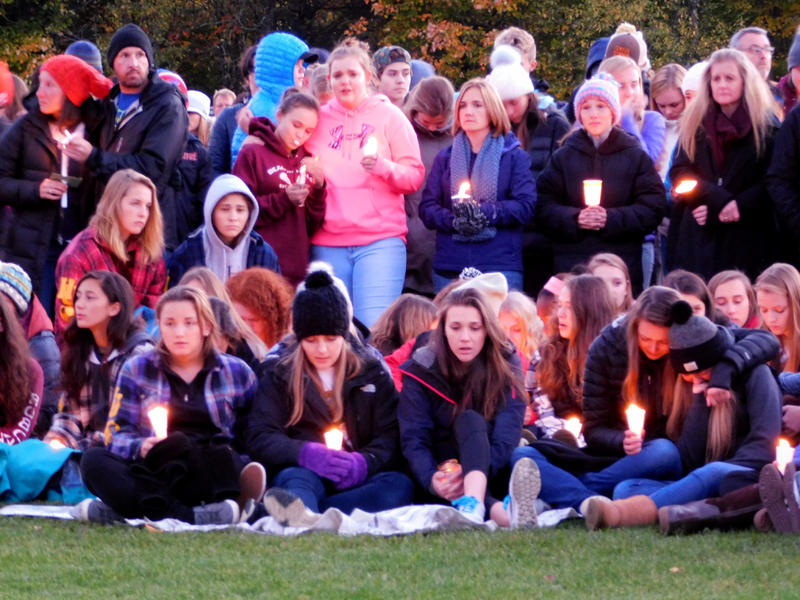 Students attend vigil at Harwood Union High School