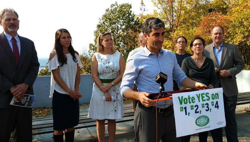 Burlington Mayor Miro Weinberger and environmental leaders urge passage of ballot questions