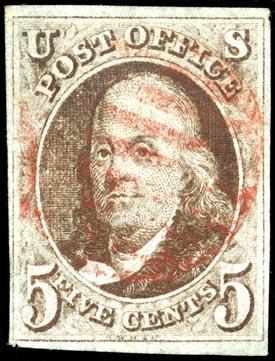 Early U.S. postage stamp