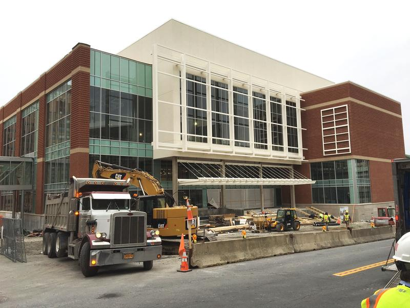 The Albany Capital Center is 75% finished...