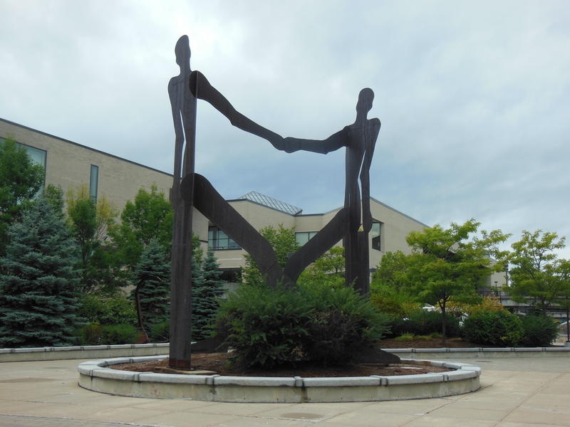 Amite sculpture on SUNY Plattsburgh campus