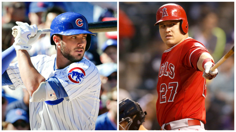 Kris Bryant and Mike Trout
