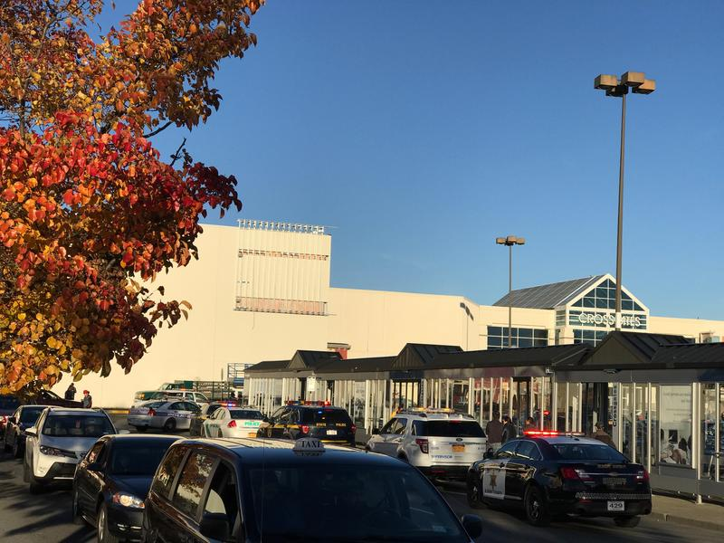 Crossgates was evacuated after reports of an active shooter on Saturday.