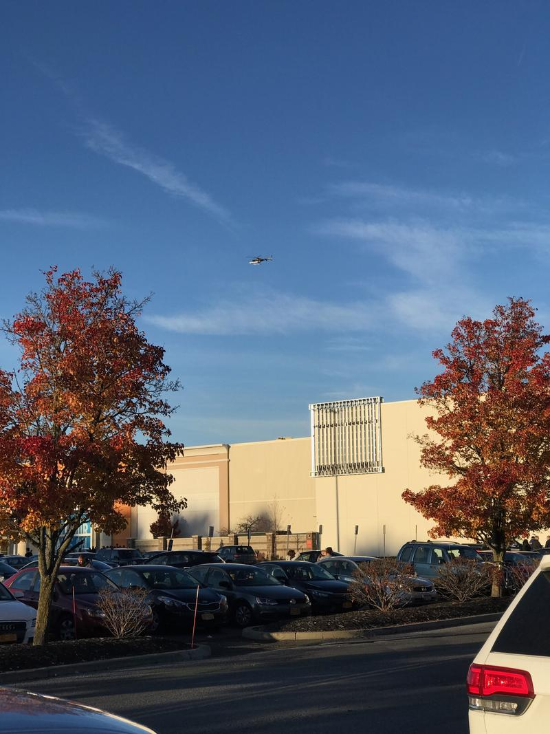 A helicopter over Crossgates on Saturday.