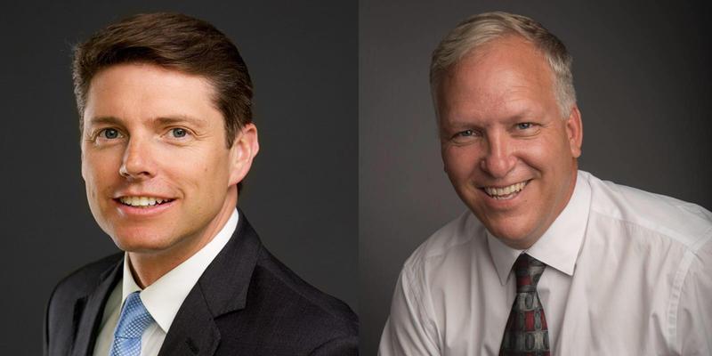 Democrat Billy Jones (left) and Republican Kevin Mulverhill