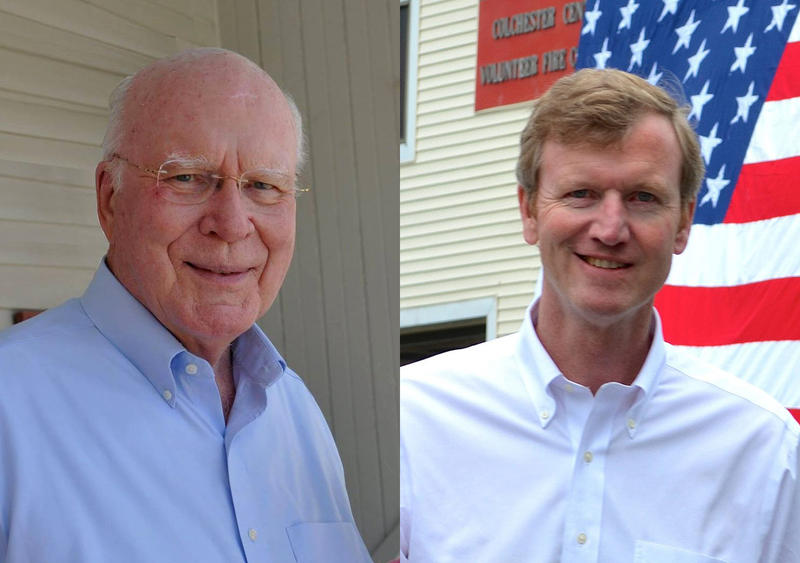 Patrick Leahy (left) and Scott Milne
