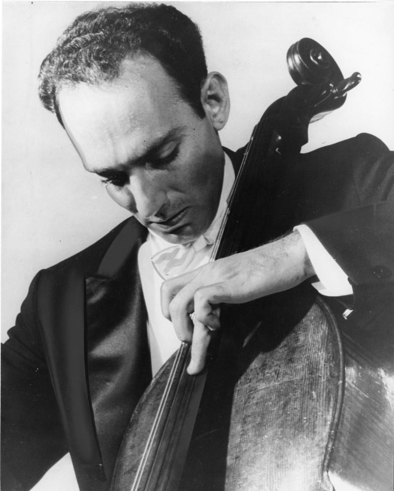 Jules Eskin plays the cello in 1964