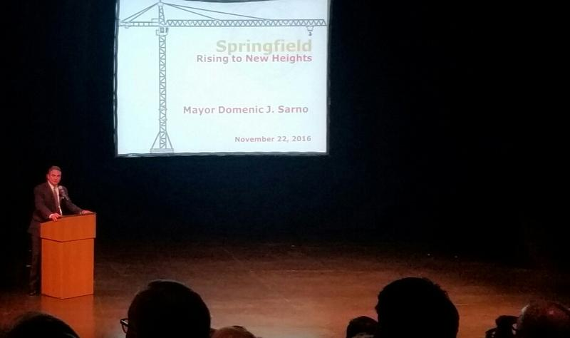 Springfield Mayor Domenic Sarno on stage