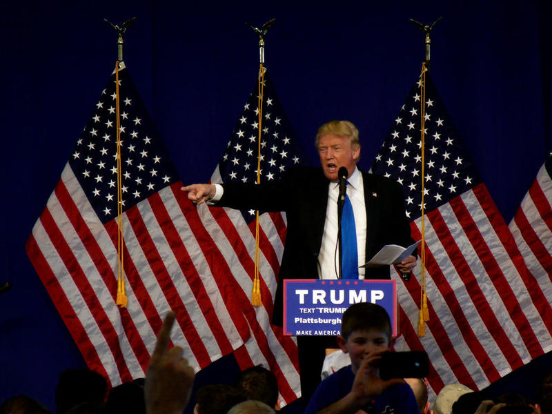 Donald Trump in Plattsburgh.