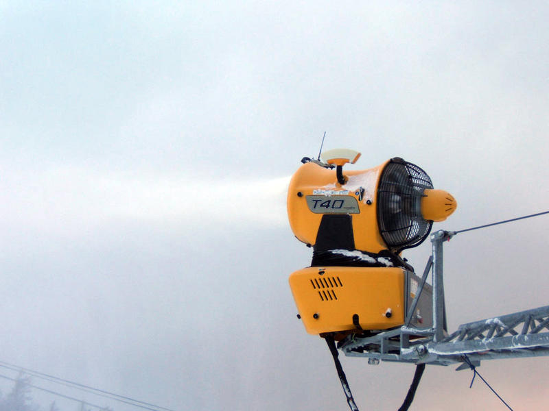 Snowgun on boom at Whiteface Mountain