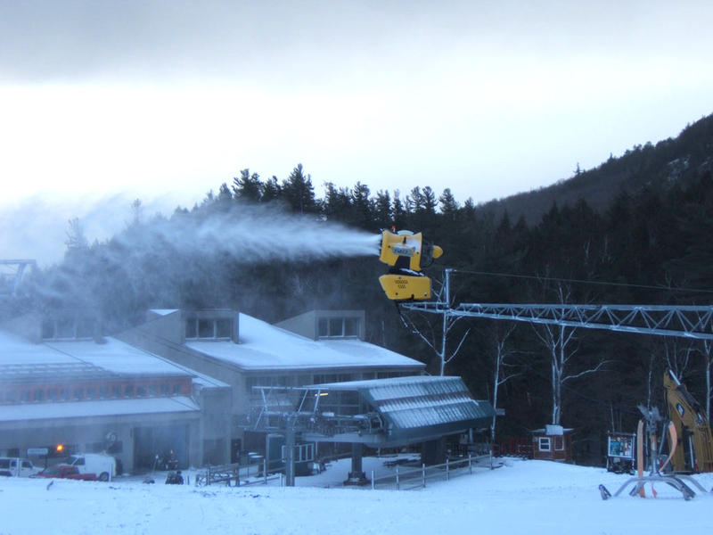 Snowgun near Whiteface ski lodge