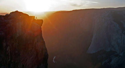 A sunset at Taft Point