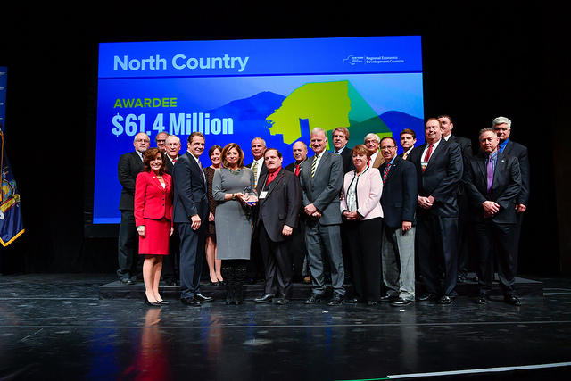 North Country contingent at Regional Economic Development Awards