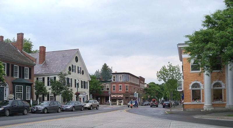 Downtown Woodstock, Vermont