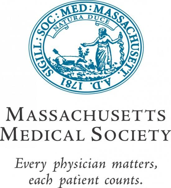 The logo of the Massachusetts Medical Society