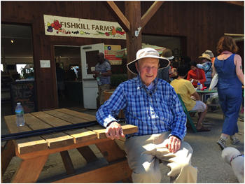 Robert Morgenthau in June at Fishkill Farms