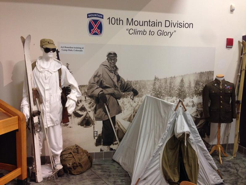 A museum exhibit at the Adams Visitor Center is dedicated to the men from Adams, Massachusetts who served in the Army's 10th Mountain Division during World War II.