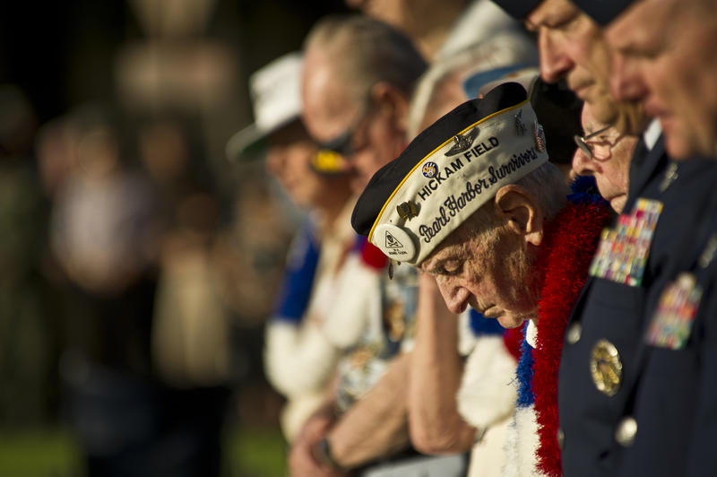 Joint Base Pearl Harbor-Hickam recognizes veterans on the 70th anniversary of the Dec. 7, 1941, attacks on Hickam Field