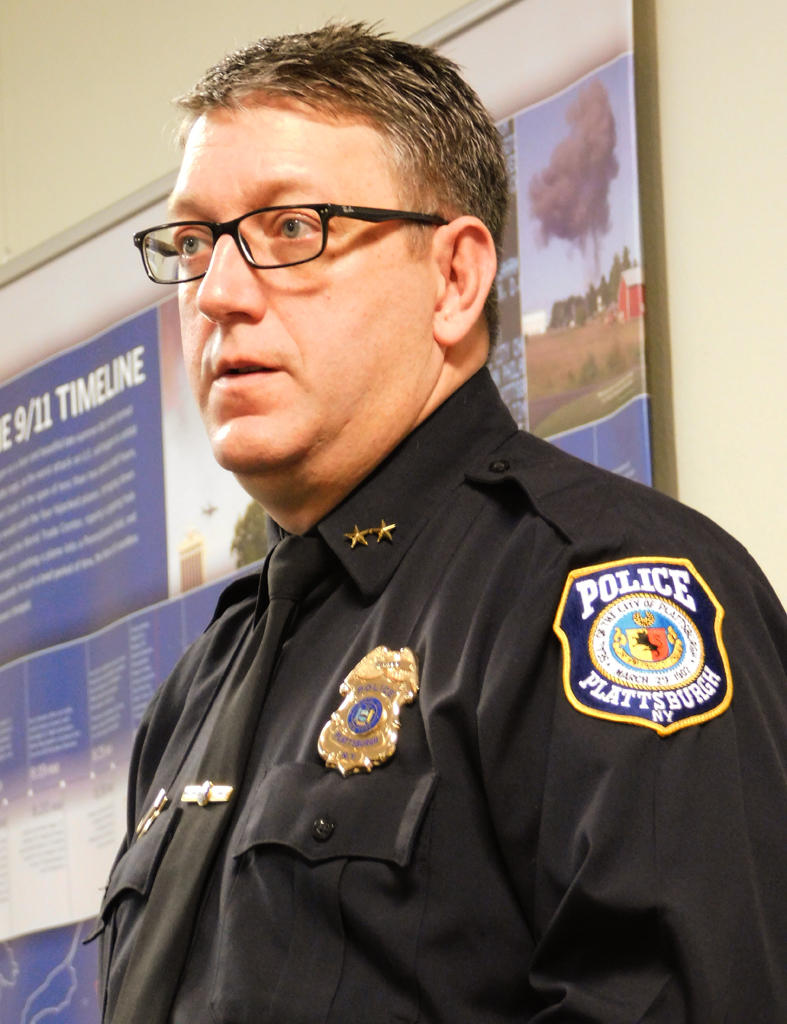 Plattsburgh Police Chief Desmond Racicot