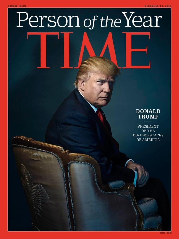 Donald Trump is Time Magazine's 2017 Person of the Year.