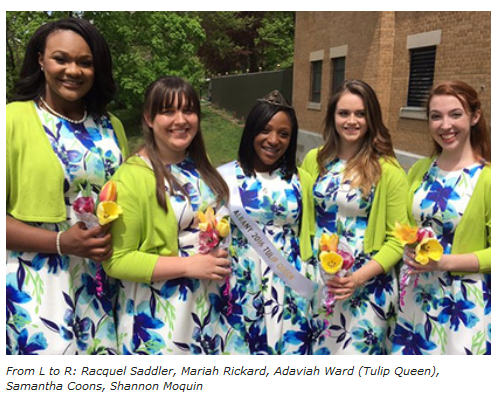 The 2016 Tulip Queen & Court