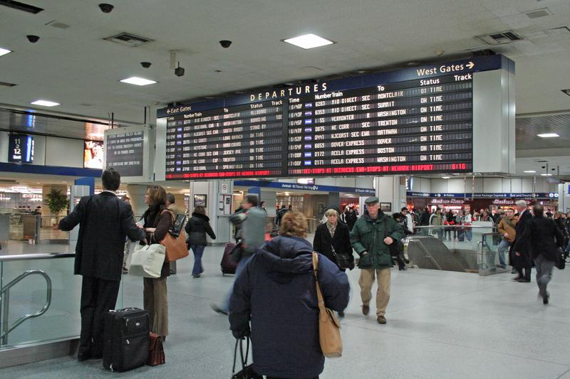 Pictured is the iconic departure board at Penn station, a staple that was removed in January.