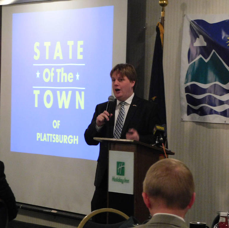 Plattsburgh Supervisor Michael Cashman presents State of the Town
