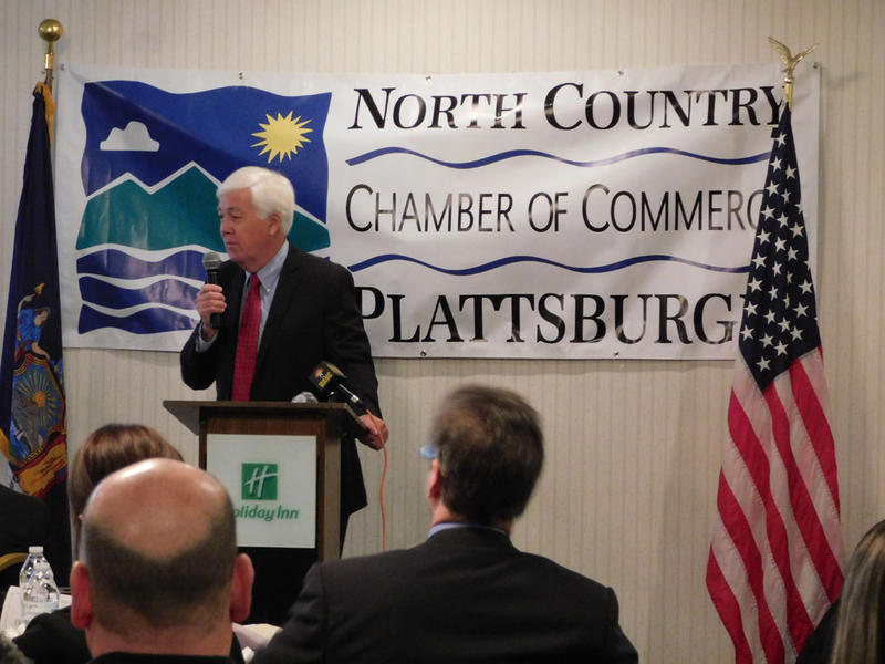 Legislature Chair Harry McManus presents State of Clinton County