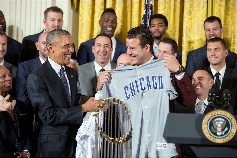 President Obama and the Chicacgo Cubs